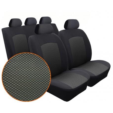 Autopotahy na Seat Cordoba II., od r. 2002 - 2009, 4 opěrky hlavy, Dynamic Žakar tmavý 2791
