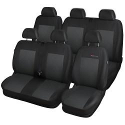 Autopotahy na Volkswagen Transporter T4, 6 míst - 1+2, 2+1, od r. 1990 - 2003, Lux style barva černá