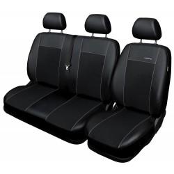 Autopotahy na Volkswagen Transporter T6 a Multivan, 6 míst - 1+2,2+1, od r. 2015, Eco Lux barva černá