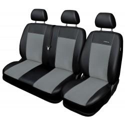 Autopotahy na Volkswagen Transporter T6 a Multivan, 9 míst - 1+2,2+1, 3, od r. 2015, Eco Lux barva šedá/černá