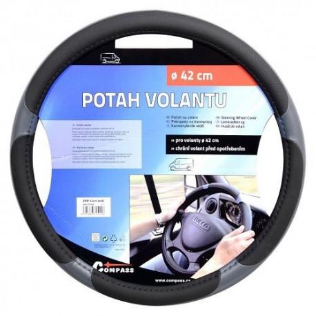 Potah volantu Grip Large, barva šedá, na volant 42 cm