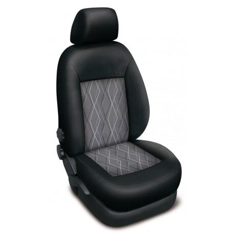 Autopotahy Authentic Premium Matrix na Ford Fusion se stolkem u spolujezdce, od roku 2002, barva Matrix šedá 0489