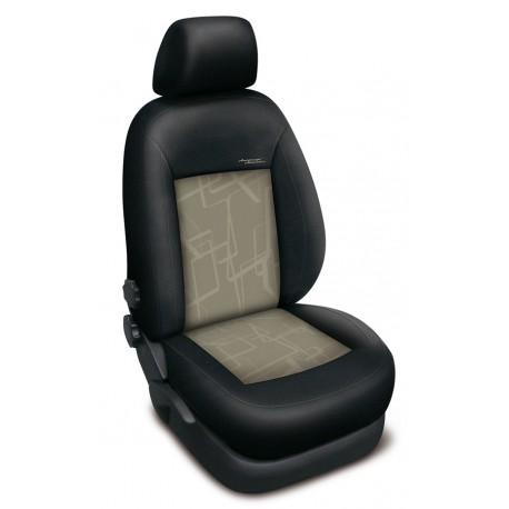 Autopotahy Authentic Premium Matrix na Ford Fusion se stolkem u spolujezdce, od roku 2002, barva Matrix béžová 0489