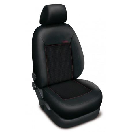 Autopotahy Authentic Premium Žakar na Ford Fusion se stolkem u spolujezdce, od roku 2002, barva Žakar červená 0490