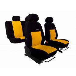 Autopotahy na Citroen C3 Aircross, se zadní lok. opěrkou, od r. 2017, Elegance alcantara černo žluté