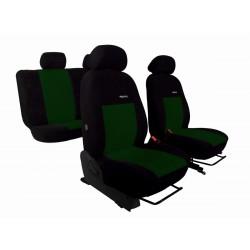 Autopotahy na Citroen C3 Aircross, se zadní lok. opěrkou, od r. 2017, Elegance alcantara černo zelené