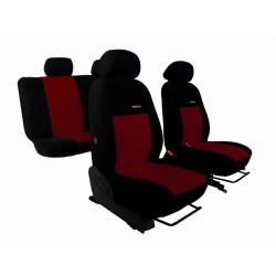 Autopotahy na Citroen C3 Aircross, se zadní lok. opěrkou, od r. 2017, Elegance alcantara černo vínové