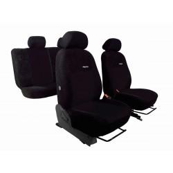 Autopotahy na Dacia Duster I., od r. 2010 - 2013, nedělená zadní sedadla, Elegance alcantara černé