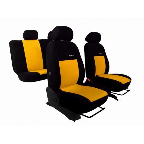 Autopotahy na Dacia Duster III., od r. 2018, Elegance alcantara černo žluté