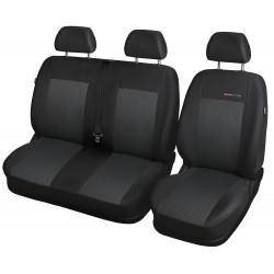 Autopotahy na Fiat Scudo II., 3 místa, od roku 2007 - 2016, Lux style barva černá