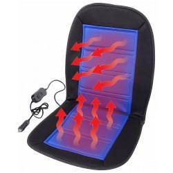 Autopotah sedadla vyhřívaný s termostatem LADDER, modrý 12V