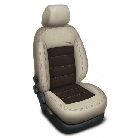 Autopotahy na Ford Mondeo IV., od r.2007 - 2014, Authentic Velvet III., barva velvet béžová béžová/hnědá 0555