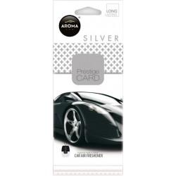 Osvěžovač vzduchu AROMA CAR PRESTIGE CARD SILVER