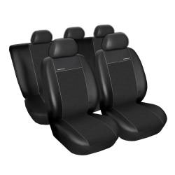 Autopotahy na Škoda Octavia II., dělená zadní sedadla, Eco Lux barva černá