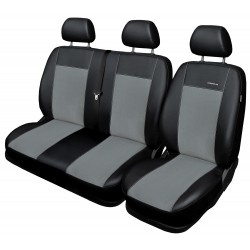 Autopotahy na Volkswagen Crafter, od r. 2006 - 2016, 3 místa, Eco Lux barva šedá/černá