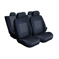 Autopotahy na Volkswagen Polo IV., od r. 2002 - 2009, dělená zadní sedadla, Lux style, barva černá