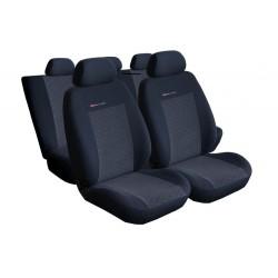 Autopotahy na Volkswagen Polo IV., od r. 2002 - 2009, nedělená zadní sedadla, Lux style, barva antracit