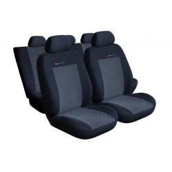 Autopotahy na Volkswagen Polo IV., od r. 2002 - 2009, nedělená zadní sedadla, Lux style, barva šedo černá