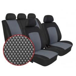 Autopotahy na Volkswagen Polo IV., 5 dvéř, nedělená zadní sedadla, od r. 2002 - 2009, Dynamic šedé