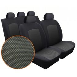 Autopotahy na Volkswagen Polo IV., 5 dvéř, nedělená zadní sedadla, od r. 2002 - 2009, Dynamic Žakar tmavý