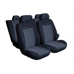 Autopotahy na Volkswagen Polo V., od r. 2009 - 2017, dělená zadní sedadla, Lux style, barva šedo černá