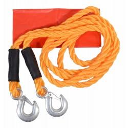 Tažné lano 3000 kg s karabinami