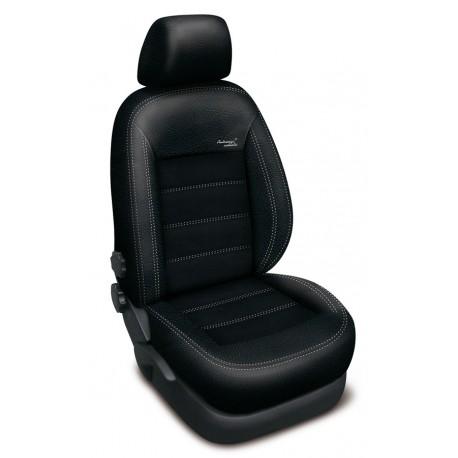 Autopotahy na BMW 1, E87, od roku 2004 - 2011, Authentic Velvet, barva velvet černá 0090