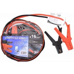 Startovací kabely 16, délka 3m, pro ben. motory do 2500cm3