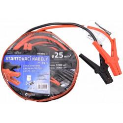 Startovací kabely 25, délka 3,5m, pro ben. motory do 5500cm3, naft. do 3000cm3