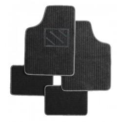 Textilní autokoberce univerzální Napoli, barva černá/šedá