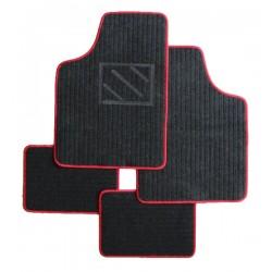 Textilní autokoberce univerzální Napoli, barva černá/červená