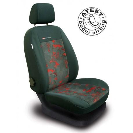 Autopotahy na přední sedadla Lux Style, barva červená