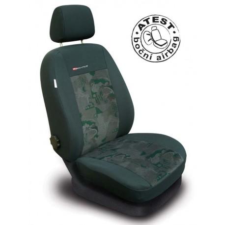 Autopotahy na přední sedadla Lux Style, barva zelená