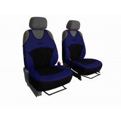 Autopotahy na přední sedadla Active Sport Alcantara, barva modrá