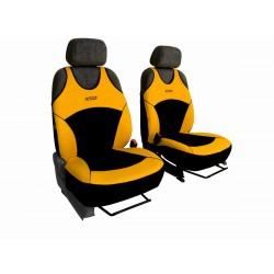 Autopotahy na přední sedadla Active Sport Alcantara, barva žlutá