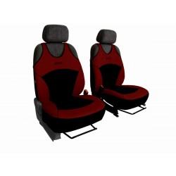 Autopotahy na přední sedadla Active Sport Alcantara, barva vínová