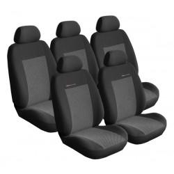 Autopotahy Lux style na Peugeot Partner II. Tepee, 5 míst, od roku 2008, barva šedo černá