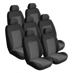 Autopotahy Lux style na Seat Alhambra I., od roku 1996 - 2010, 7 míst , barva šedo černá