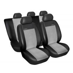 Autopotahy Eco Lux na Škoda Fabia II., dělená zadní sedadla, barva šedá/černá