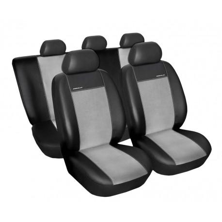 Fotografie Autopotahy na Škoda Fabia II., dělená zadní sedadla, Eco Lux barva šedá/černá 1340