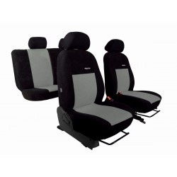 Autopotahy Elegance alcantara na Škoda Octavia I., dělená zadní sedadla, 4 OH, černo šedé