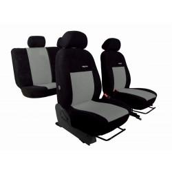 Autopotahy na Škoda Octavia II., dělená zadní sedadla, Elegance alcantara černo šedé
