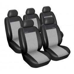 Autopotahy Eco Lux na Toyota Corolla Verso II., od roku 2004 - 2009, barva šedá/černá
