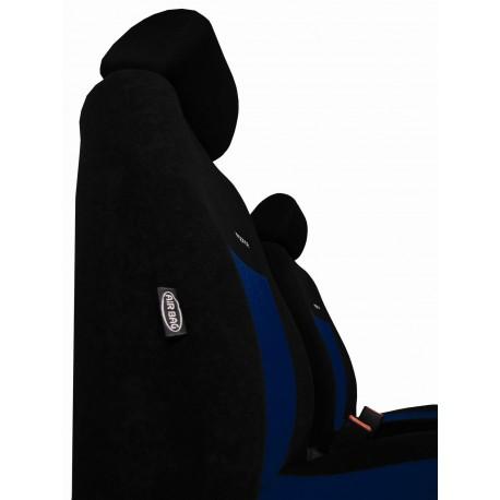 Autopotahy na Volkswagen Crafter, od r. 2006, 3 místa, Elegance alcantara černo modré 1595