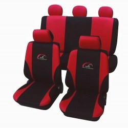 Univerzální autopotahy Turbo, barva červená