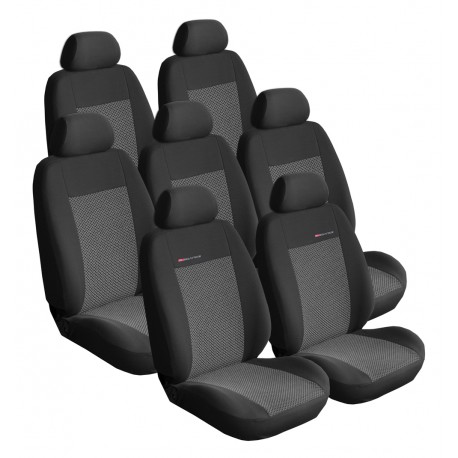 Autopotahy Lux style na Citroen C8, 7 míst, od roku 2002, barva šedo černá