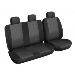 Autopotahy Lux style na Citroen Jumper I., 3 místa, od roku 1994 - 2006, barva černá