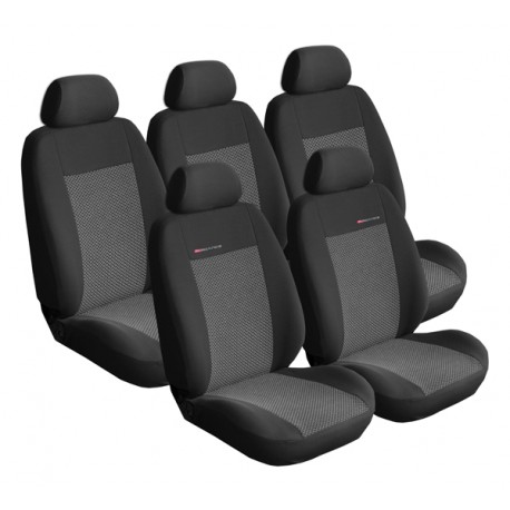 Autopotahy Lux style na Citroen Jumpy II., 8 míst, od roku 2007, barva šedo černá
