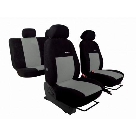 Autopotahy Elegance alcantara na Dacia Duster II., od roku 2014, černo šedé