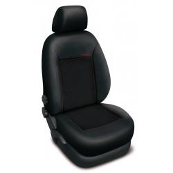 Autopotahy na Škoda Fabia I., dělená zadní sed., 4 opěrky hlavy, Authentic Premium Žakar